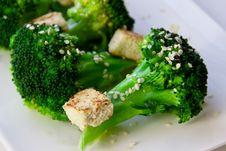 Free Broccoli And Tofu Stock Photography - 35066502