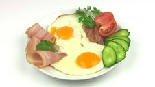 Free Plate With Fried Eggs. Seamless Royalty Free Stock Photo - 35068145