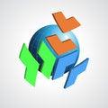 Free Abstract Modern Globe  Logo Design Template. Stock Image - 35078041