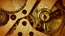 Free The Mechanism Of Old Watches. Close-up. Middle Focus Royalty Free Stock Images - 35070509