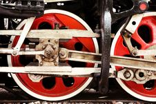 Free Red Locomotive Wheels Close-up Stock Photos - 35071343