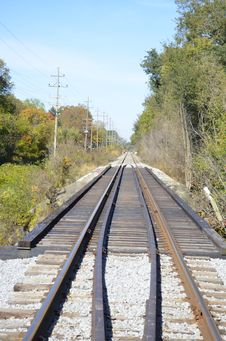 Free Railroad Tracks In The Country Royalty Free Stock Photo - 35079265