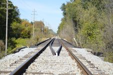 Free Railroad Tracks In The Country Stock Photography - 35079272