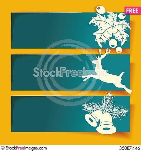 Free Beautiful Christmas Banners Royalty Free Stock Image - 35087446