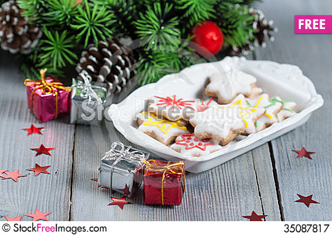 Free Christmas Cookies Royalty Free Stock Photography - 35087817
