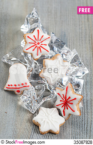Free Christmas Cookies Royalty Free Stock Photos - 35087828