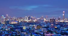 Free Bangkok Skyline Royalty Free Stock Photography - 35080547