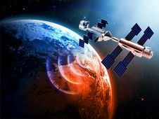 Free Satellite In Space Royalty Free Stock Photo - 35082545