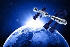 Satellite In Space Stock Image