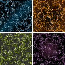Free Seamless Floral Pattern Royalty Free Stock Image - 35083546