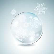 Free Fir Tree Bauble With White Snowflakes. Stock Photography - 35087232