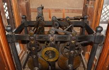 English Old Clock Gear Mechanism Royalty Free Stock Photography