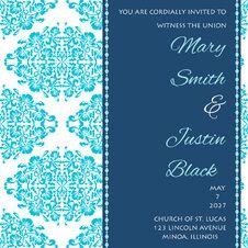 Free Wedding Card Royalty Free Stock Image - 35089876