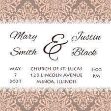 Free Wedding Card Royalty Free Stock Photo - 35089895