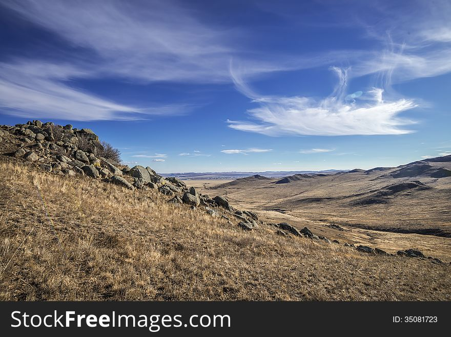 Mountain Tut-Haltuy valley, Borzinsky area, Zabayk