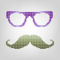 Free Hipster Glasses And Mustaches. Stock Photos - 35091873