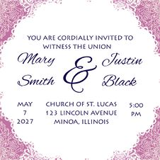 Free Wedding Card Royalty Free Stock Image - 35090056