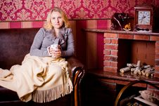 Free Nice Woman With Cup Of Hot Tea Stock Photo - 35090770