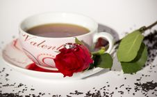 Free Teapot With Rose Royalty Free Stock Photos - 35092958