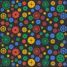 Free Seamless Vector Gear And Cogwheel Background Retro Stock Image - 35099491