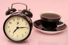 Free The Black Alarm Clock Royalty Free Stock Photo - 3512385