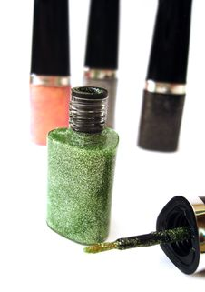 Free Green Nail Polish Royalty Free Stock Images - 3513259