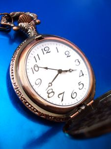 Close-up Of Old Golden Clock Royalty Free Stock Image