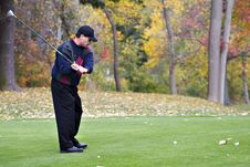 Free Autumn Golfer Stock Photography - 3513902