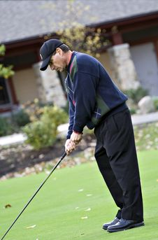 Free Autumn Golfer Stock Images - 3513904