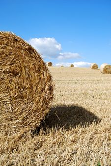 Close Photo Of A Hay Bale Royalty Free Stock Photo
