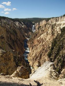 Free Lower Yellowstone Falls Stock Images - 3515634