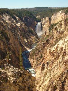 Free Lower Yellowstone Falls Stock Photo - 3516120