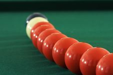 Free Pool Balls In An Arc 2 Stock Photos - 3516243