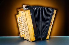 Free Detail Of An Old Accordion Stock Photos - 3516373