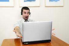 Free Telephone Operator Surprised Royalty Free Stock Photos - 3516848