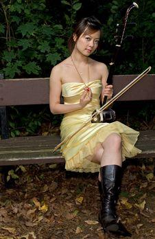 Free Erhu Beauty Royalty Free Stock Photos - 3517558
