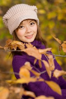 Free Girl In Leaves Stock Photo - 3517690