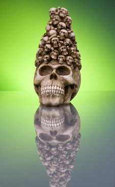 Free Halloween Skull Royalty Free Stock Photography - 3518517