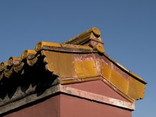 Free Chinese Roof Royalty Free Stock Photo - 3519815
