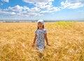 Free Beautiful Little Girl In A Meadow Stock Photo - 35102350