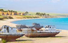 Free Pier Olkhon Island - Lake Baikal Royalty Free Stock Images - 35100109