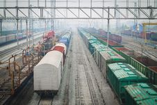 Free Railway Switchyard. Stock Photography - 35100132
