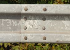 Free Steel Crash Barriers Royalty Free Stock Photography - 35100787