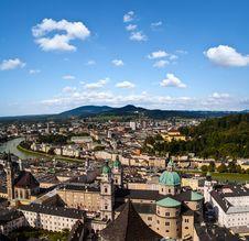 Free Panorama Of  Salzburg Royalty Free Stock Photography - 35101227