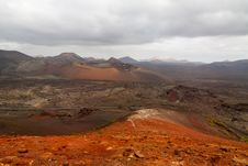 Free Dramatic View Of Timanfaya National Park Royalty Free Stock Images - 35101429