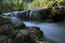 Free Waterfall - Piltwickie Lakes In Croatia Royalty Free Stock Photo - 35102375