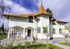 Cottage Front View &x28;Monastery Resort&x29; Royalty Free Stock Photos