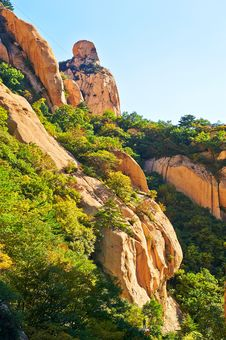 The Humanoid Boulders Of The Gallery Valley Of Zu Mountain Stock Photography