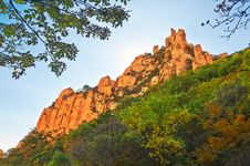 The Beautiful Boulders Of Gallery Valley Of Zu Mountain Stock Image