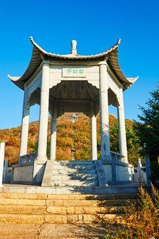 Free The Pavilion On The Apsara Peak Of Autumn Zu Mount Stock Image - 35107361